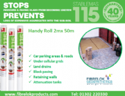 STABLEMAS 115 Non Woven Geotextile - Roll Size 2m x 50m